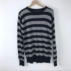 Boys Cherokee striped sweater XL 16-18 Navy Gray
